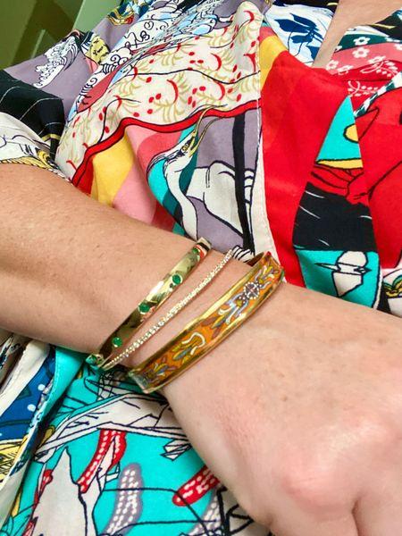 Classic, elegant Diamond bangle bracelet (with sparkly CZ and gold plate).  Great add to your arm stack - on sale! #NSALE    #LTKsalealert #LTKstyletip #LTKunder50