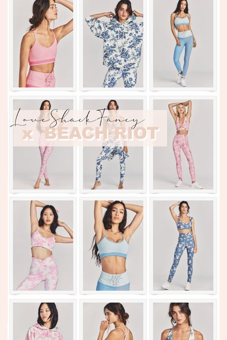 Love the new Beach Riot x LoveShackFancy collaboration! All the fun pastel florals.   #LTKstyletip #LTKfit