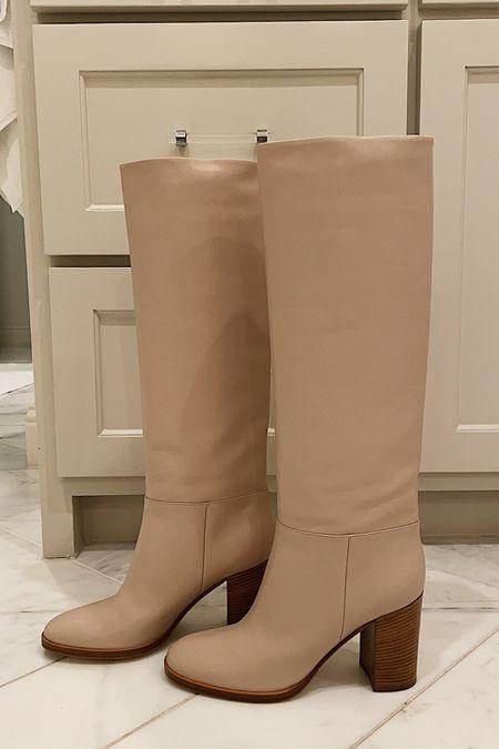 New boots! Love this soft neutral hue 🤩 #shoes #boots #fallfashion #gianvitorossi #neutrals  #LTKstyletip #LTKshoecrush