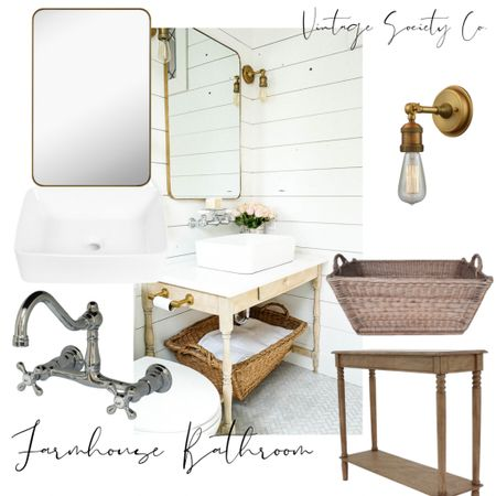 The farmhouse bathroom trend will never go out of style. Shop our favorite bathroom pieces here.   #LTKfamily #LTKhome