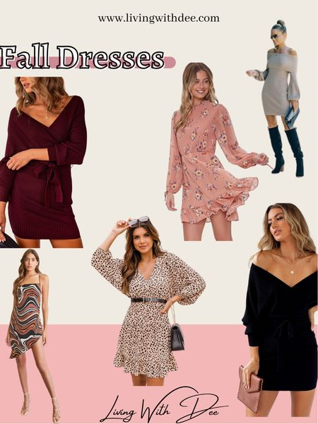 Fall dresses Fall fashion Sweater dresses Floral dress   #LTKstyletip #LTKunder50 #LTKunder100