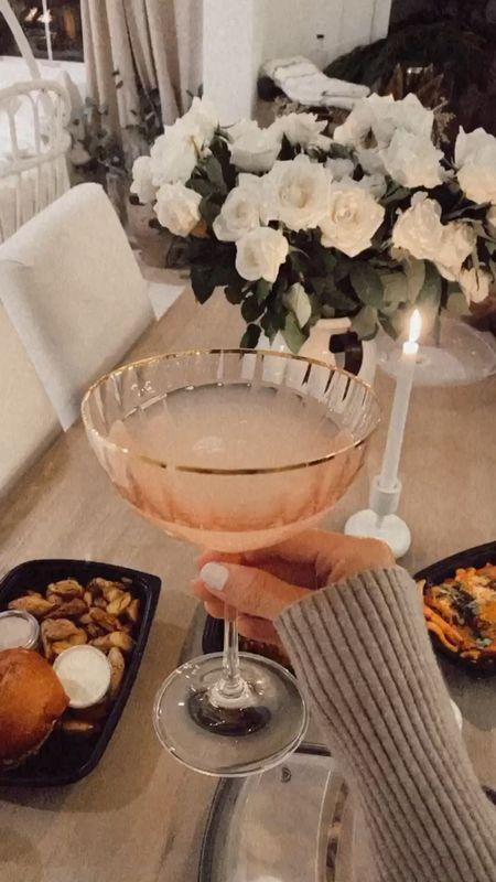 Cocktail glasses, coupe cocktail glasses, StylinAylinHome   #LTKunder50 #LTKhome