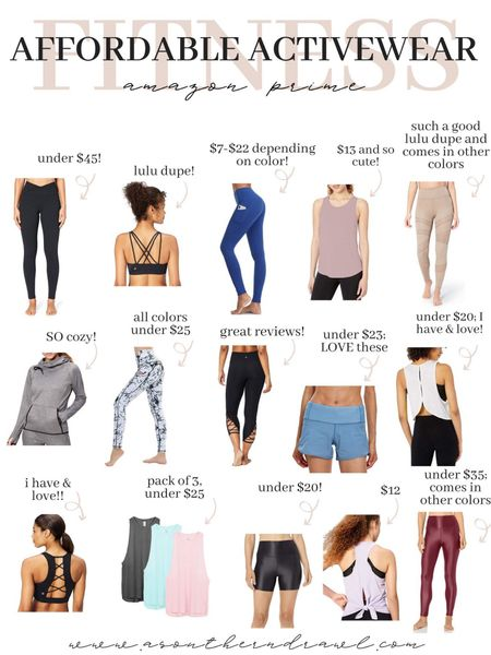 Activewear and workout outfits from Amazon fashion   #LTKfit #LTKunder50