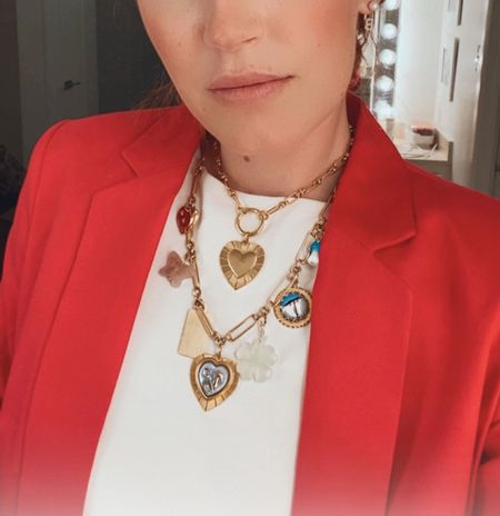 Layering my Brinker necklaces with this business casual look. The gold is such a gorgeous shade and it is not the kind that tarnishes. This brand is high quality and well-priced. I always get compliments.    #LTKSeasonal #LTKworkwear #LTKstyletip