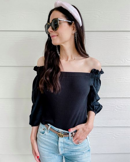 This target top is a winner! Wearing a small and yes TTS! Gorgeous in both black & white to pair with high waisted jeans and skirts. http://liketk.it/3gL7W #liketkit @liketoknow.it