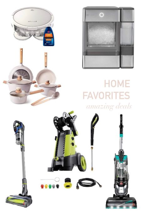 Prime day sales for the home. Vacuums. Floor robot. Power washer. Pebble ice machine. Pots and pans.  #LTKsalealert #LTKhome