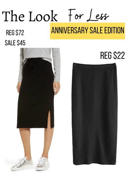 Nordstrom anniversary sale look a like               Nsale  Amazon fashion  Amazon finds  Dupe Midi skirt  Fall fashion  Fall outfits  Knit skirt   #LTKunder50 #LTKsalealert #LTKstyletip