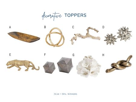These decorative toppers are perfect on a stack of books in your shelves or on a table.  Home decor, home accessories, shelf style, book topper, decorative objects  #LTKhome