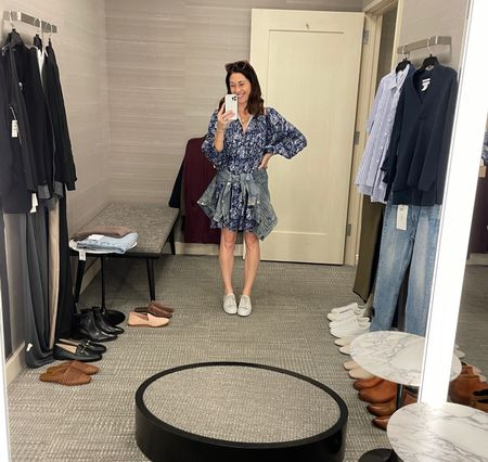 """My picks from the client shopping trip - client was slight pear shape, 5'4"""" - wide leg bottoms and v necks looked great on her   #LTKstyletip"""