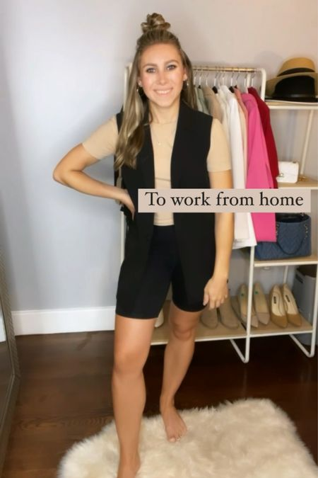 Check out all the ways I styled this sleeveless blazer! Here's how I would wear it to work from home!  #LTKSeasonal #LTKHoliday