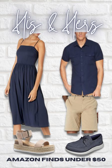 His & hers, matching, couple, outfit, affordable, Amazon, husband and wife, date night, picnic, cute, couple ideas   #LTKfamily #LTKunder50 #LTKmens
