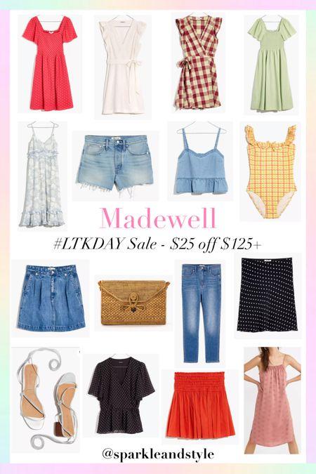 LTK Day Sale: Madewell - $25 off $125+   http://liketk.it/3hyYP @liketoknow.it #liketkit #LTKDay #LTKsalealert #LTKitbag   Summer dresses, summer shorts, summer jeans, summer skirts, Summer tops, summer fashion, summer styles, summer clothes, summer bags, summer shoes, swimsuit, smocked dress, wrap dress, gingham plaid dress, denim shorts, denim skirt, midi dress, polka dot skirt, night dress, sleep wear dress, polka dot top, mini skirt, rattan bag, tie up shoes,