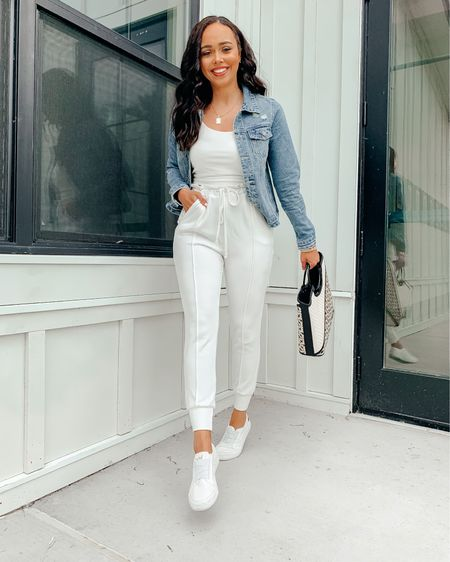 Mix & Matching some favorites from Amaryllis' new Malibu Collection! Wearing an XS in the jacket (recommend sizing up 1 for a looser fit) and wearing a size small in the white sweatpants! I recommend wearing neutral undergarments too 😊 Screenshot this pic to get shoppable product details with the @liketoknow.it shopping app: http://liketk.it/3hUaX #liketkit #LTKstyletip #LTKunder100
