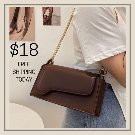 Minimalist chain shoulder purse  #LTKunder50 #LTKstyletip #LTKitbag