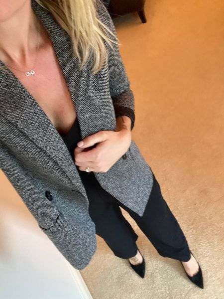 A little blurry (sorry, was rushing to get out the door to the pediatrician!), but this jumpsuit can work hard for your money! Dress it up for work or a date.   http://liketk.it/2WceG   Shop your screenshot of this pic with the LIKEtoKNOW.it shopping app #liketkit @liketoknow.it #LTKwedding #LTKworkwear #LTKstyletip