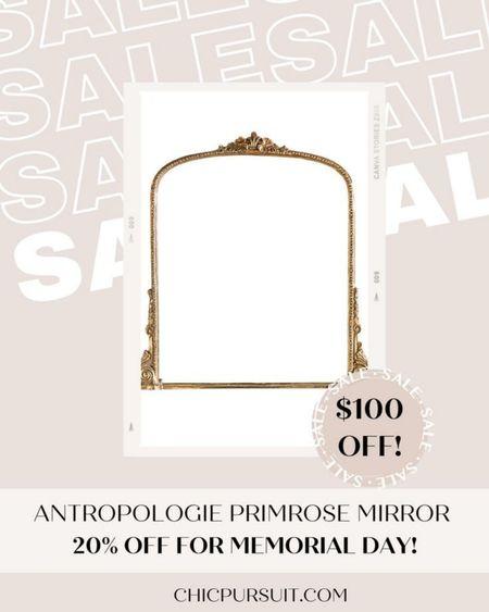 SALE ALERT! Anthropologie's Primrose Mirror in gold is $100 off today! ✨✨ #LTKsalealert #LTKSpringSale #LTKhome @liketoknow.it.home http://liketk.it/3gerZ @liketoknow.it #liketkit
