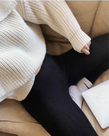 Loungewear, comfort, H&M, Nike, leggings, comfy, wfh, wfh fashion, cream, neutral fashion, outfit details http://liketk.it/3hOvW #liketkit @liketoknow.it