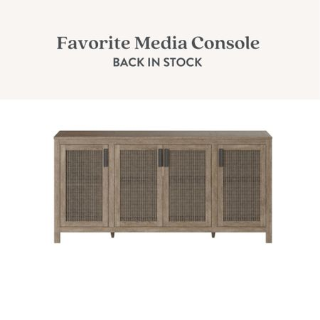 Media console, tv stand, cabinet, sideboard, buffet table, cane furniture, cane console   #LTKhome