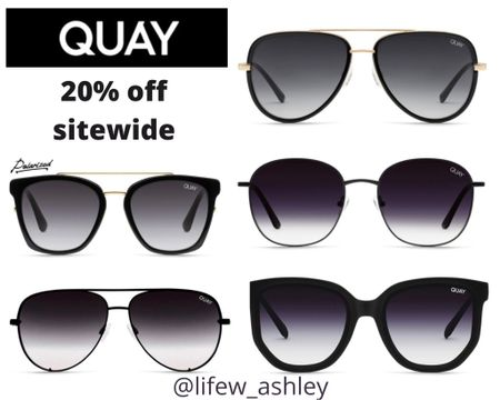 Quay sunglasses are 20% right now for the #LTKSpringSale  it's the perfect time to stock up for summer!! #liketkit #LTKsalealert #LTKunder50 http://liketk.it/3cD1I @liketoknow.it Follow me on the LIKEtoKNOW.it shopping app to get the product details for this look and others