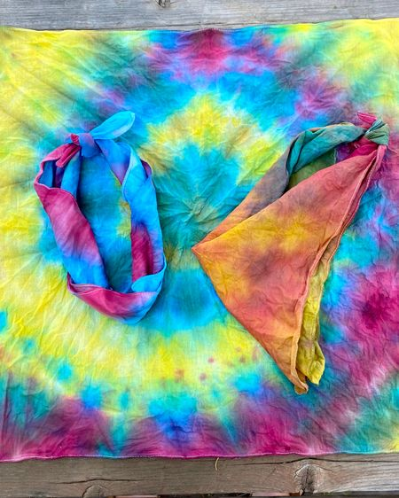 Tie dye summer fun!  This tie dye kit from target included 3 bandanas and was 50% off in store making this diy only $4.99!  http://liketk.it/3jLW7 #liketkit @liketoknow.it #LTKkids #LTKfamily #LTKsalealert