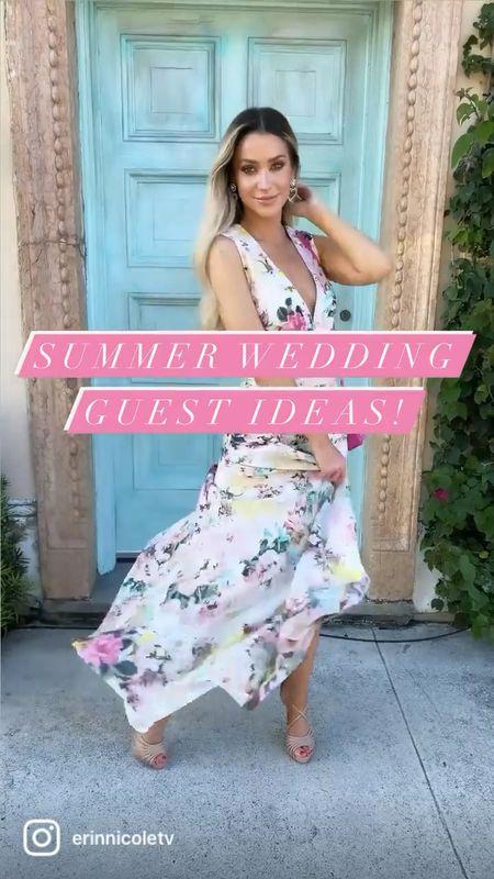 3 Summer wedding guest dress ideas!   #LTKwedding #LTKsalealert #LTKSeasonal