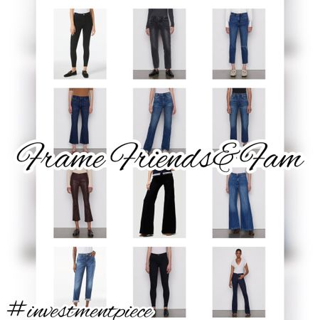 The chicest jeans (from bootcut to relaxed, straight leg to wide cut, stretch to rigid) all 25% off @framedenim friends and family sale! #investmentpiece   #LTKstyletip #LTKsalealert #LTKSeasonal
