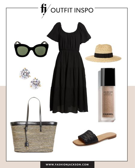 Love this under $100 black midi dress for summer. Dress it up or down with sneakers or sandals #summerdresses #dresses #blackdress #sandals #beachvacationoutfit http://liketk.it/3hbSZ #liketkit @liketoknow.it #LTKstyletip #LTKunder100 #LTKunder50