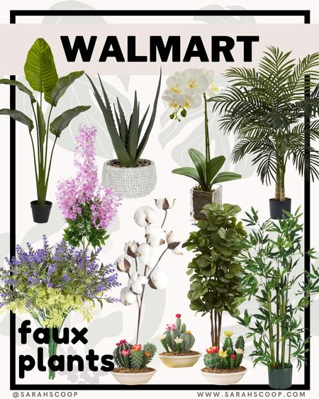 Real plants can be real hard to keep alive for us who don't have a green thumb. Why not opt for a faux plant? Add some green to your home! 🌱🌿  #walmart #home #ltk #plants #plant #deal
