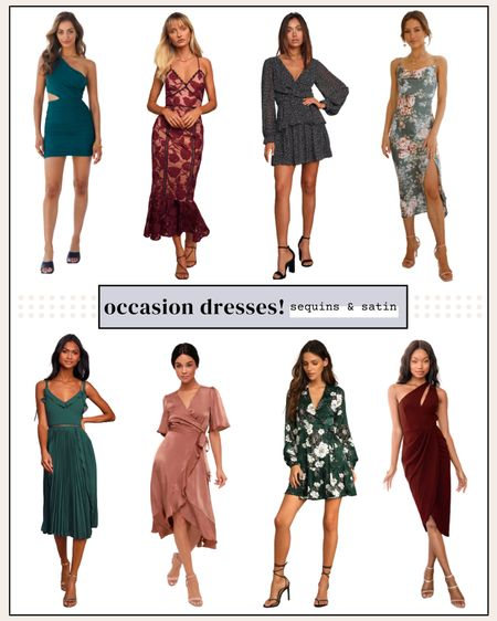 Some cute dress options for fall!! Most come in more colors too🙌 #occasiondresses #falldresses #weddingguest #weddingguestdresses   #LTKSeasonal #LTKwedding #LTKunder100