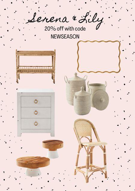 "Serena & lily sale! Use code ""newseason"" Bar stools. Home decor. Seasonal decor.   #LTKsalealert #LTKhome #LTKSeasonal"
