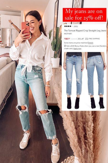 MOTHER denim on sale for 25% off! My most worn jeans!   #LTKSeasonal #LTKfit #LTKsalealert