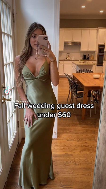 Fall wedding guest dress  Green long dress formal  Wedding guest  Code CAMPBELL Size 4