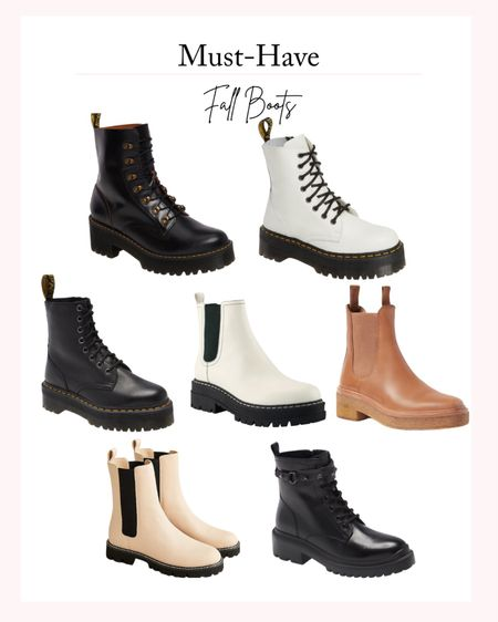 Must-Have Fall Boots - Chunky boots, fall shoes, fall outfit inspiration, fall fashion   #LTKSeasonal #LTKstyletip #LTKshoecrush