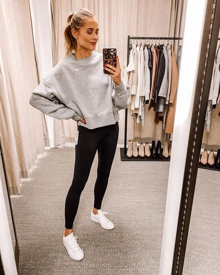This oversized Nike sweatshirt and black leggings are back again for #NSALE and I still wear them all the time! Wear an XS in both. Definitely great cozy pieces to have #nordstromsale #nordstromanniversarysale #nike #athleisure #fashionjackson  #LTKunder50 #LTKsalealert #LTKunder100