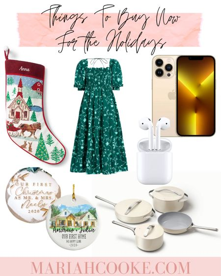 With all the shortages and shipping delays there's things you should buy right now for the holidays. Including popular Instagram items like the nap dress or caraway pans, iPhone or AirPods, and customized items like stockings or monograms    #LTKSeasonal #LTKHoliday #LTKGiftGuide