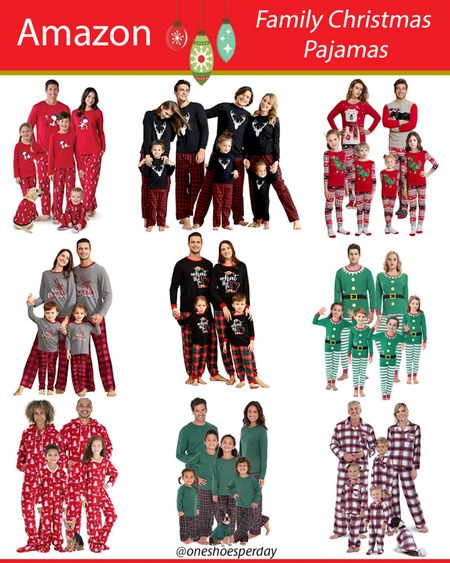 Amazon Finds  Family Matching Christmas Pajamas          http://liketk.it/3pRNR @liketoknow.it #liketkit #LTKGiftGuide #LTKHoliday #LTKSeasonal #LTKsalealert #LTKfamily #LTKunder50 Travel | Family | Holidays Pajamas | Amazon Favorites | Amazon Fashion |