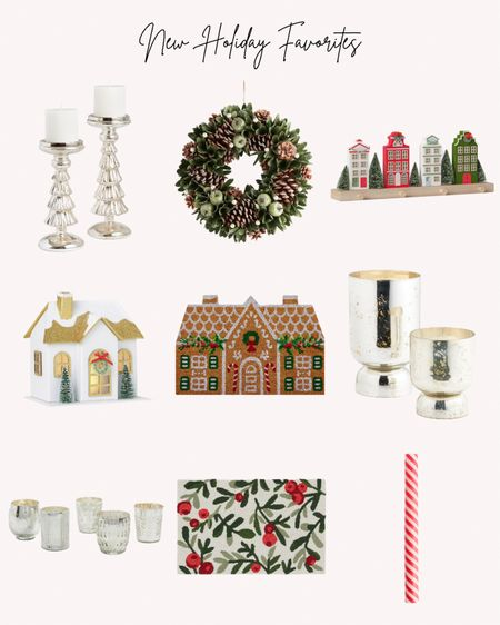 Holiday favorites, Christmas decor, decorations, candles, wreath, doormats, Christmas village, houses, mercury glass   Follow me for more ideas and sales.   Double tap this post to save it for later    #LTKhome #LTKHoliday #LTKSeasonal