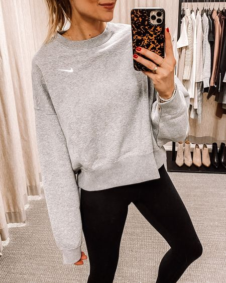 This oversized Nike sweatshirt and black leggings are back again for #NSALE and I still wear them all the time! Wear an XS in both. Definitely great cozy pieces to have #nordstromanniversarysale #nike #athleisure #fashionjackson #liketkit  #LTKunder100 #LTKunder50 #LTKsalealert