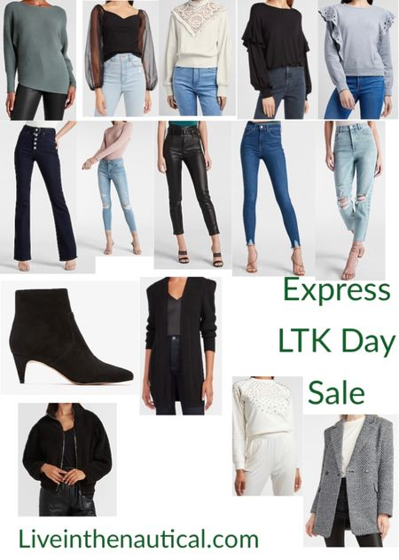 SALE ALERT!!!  Shop in app to get amazing deals and Save from Express!  Rounding up sone if my favorite fall finds and wardrobe staples from Express, like their denim which is some of my fav!  #LTKDay #LTKSale #LTKsalealert