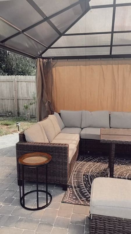 My backyard seating area so almost finished! Linked all the products and some more on this post!   #LTKhome #LTKDay #LTKSeasonal