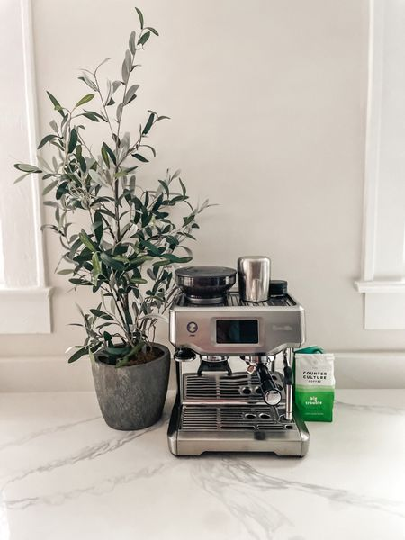 Hands down the best purchase I've made ever - my Breville Coffee maker! • Fall home decor coffee table dining room decorations styled styling style velvet pumpkins neutral greenery stems natural modern minimal   #LTKSeasonal #LTKHoliday #LTKhome