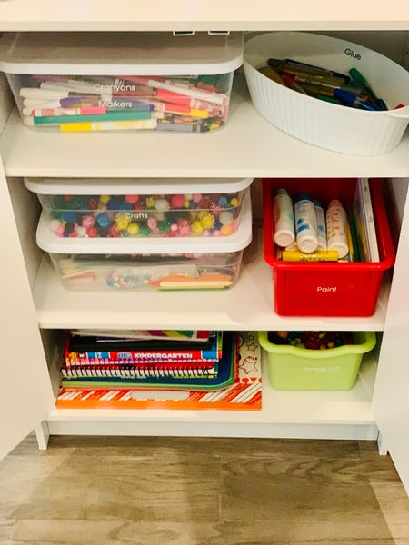 Craft cabinet organized 🌟  #LTKunder50 #LTKhome #LTKkids