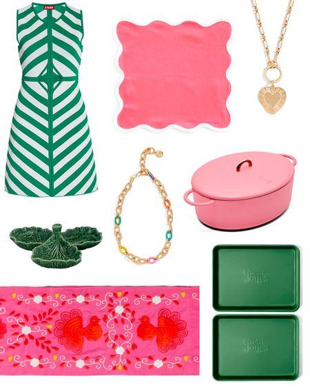 Pink & green home decor and fashion favorites. Sharing why I love them on the blog at KellyGolightly.com! 💕💚 Plus a few promo codes!  #LTKunder100 #LTKsalealert #LTKhome