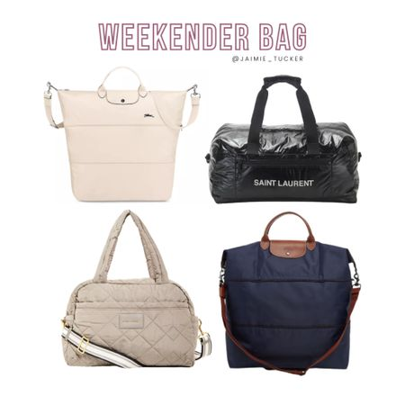 Spacious and convenient weekender bags for those small road trips and travel plans this summer. | #weekenderbag #traveltote #dufflebag #travelbag #vacationmusthaves #roadtripmusthaves #roadtripessentials #JaimieTucker  #LTKtravel #LTKstyletip