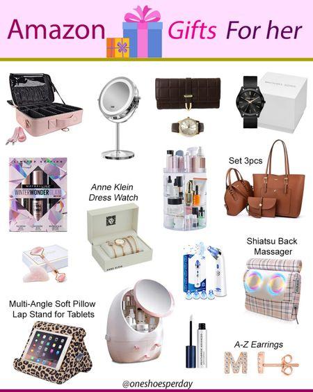 Amazon Finds  Gifts for Her         http://liketk.it/3pRKU @liketoknow.it #liketkit #LTKGiftGuide #LTKHoliday #LTKSeasonal #LTKsalealert #LTKtravel #LTKunder50 #LTKworkwear #LTKbeauty Beauty | Makeup Organizers | Makeup Case | Handbags | Makeup Mirrors | Gift Set | Watches | Back Massager | Jewerly |