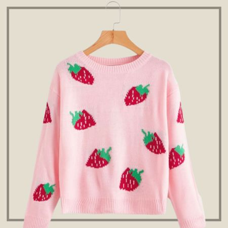 Strawberry print sweater   #LTKunder100 #LTKunder50 #LTKstyletip