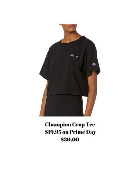 Cropped Champion T-shirt! I wear this one all the time!    http://liketk.it/3i7xC #liketkit @liketoknow.it #LTKsalealert #LTKunder50 #LTKstyletip