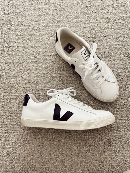 White sneakers, white leather veja shoe   #LTKshoecrush #LTKtravel