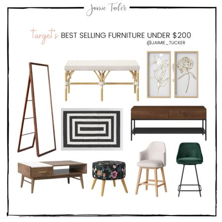 Spring home revamp! Check out these stunning and modern furniture pieces from Target. All items are under $200. | #bestsellers #homefurniture #kitchenfurniture #livingroomfurniture #diningroomfurniture #outdoorhomerug #under200 #LTKSpringSale #SaleAlert #TargetFurniture #TargetHome #JaimieTucker   #LTKSpringSale #LTKstyletip #LTKhome