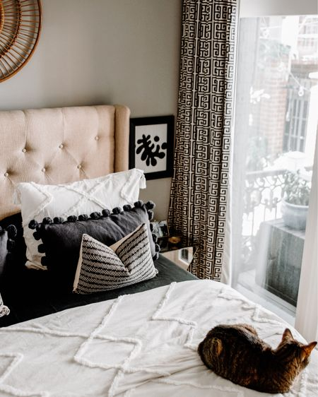 This room has seen so many iterations over the past two years, all somehow keeping the same vibe (maybe because that drapery IS the overpowering vibe?). So, here's a flashback to shortly after we moved in, pre-sconces, pre-iron bed, pre-new nightstand.    #homeblogger #styleblogger #designblogger #interiordesign #smallspacestyle #dcblogger #homedecor #housegoals #apartmenttherapy #hometour #smallspacesquad #mydomino #theeverygirlathome @apartmenttherapy  #creativehappylife @housebeautiful @southernlivingmag @lonnymag @dominomag @glitterguide @theeverygirl #mycb2 #f52home #mypbteen #potterybarnteen  #myikeausa #lonnyliving        http://liketk.it/3coJk #liketkit @liketoknow.it